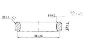 Чертеж прокладки овального сечения 26.260.461-99 тип I